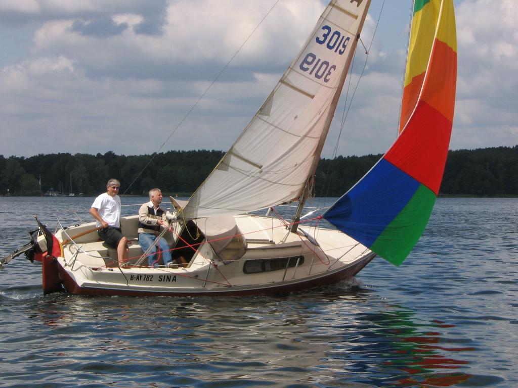 Segelboot testen mit Blister